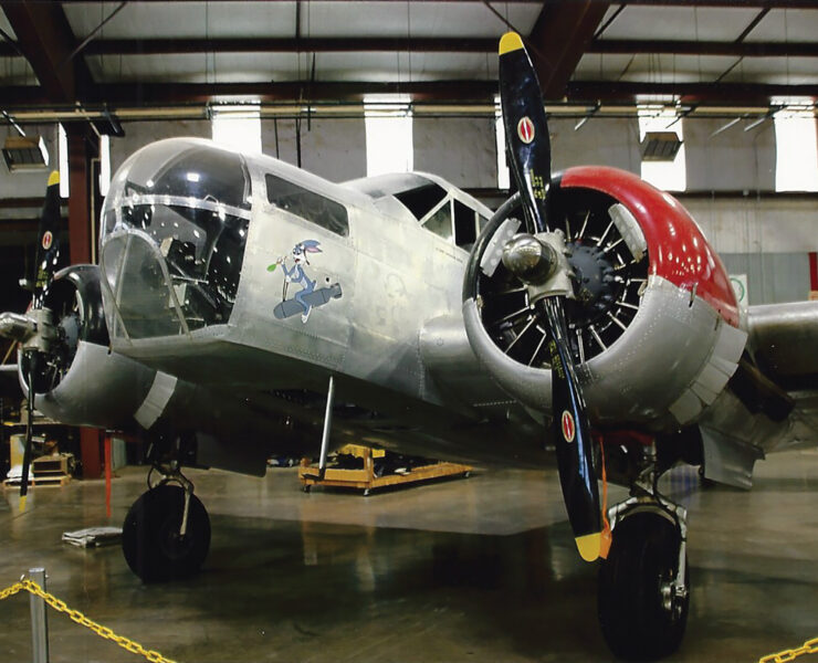 THE KANSAN Nicknamed for the location of the aircraft plant where it was manufactured (Wichita, Kansas), this 1942 Beechcraft AT-11 Kansan bombardier is a favorite backdrop for group photos at the Midland Army Air Force Museum. | Courtesy H. A. Tuck, Jr.