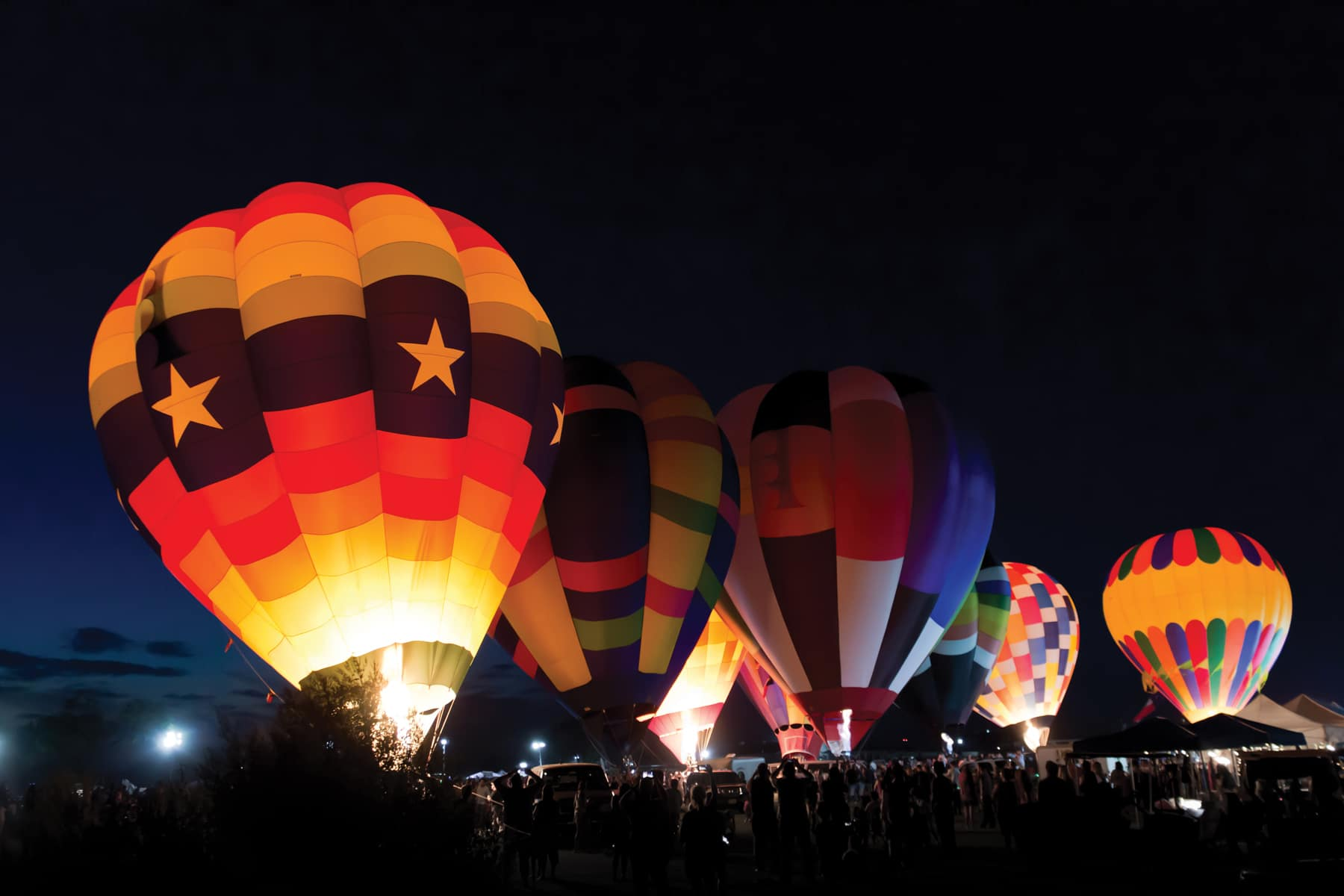 UP, UP AND AWAY While hot-air balloon events can be found all across the Lone Star State, the cities of Abilene, Canton, Longview, and Plano go all out and up each year. | iStock/ Getty Images