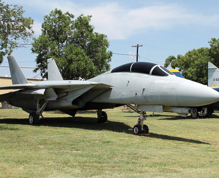 TOP GUN Perhaps the most widely recognized Navy fighter, thanks to its starring role in Top Gun, the F-14 Tomcat served as an advanced interceptor and air superiority fighter. | Courtesy Fort Worth Aviation Museum
